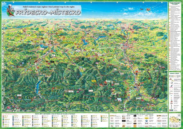 Frydecko-Místecká mapa