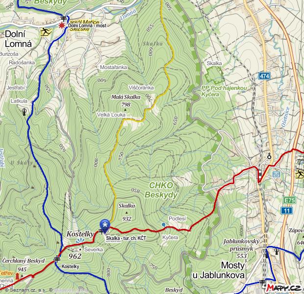 Mapa Skalka