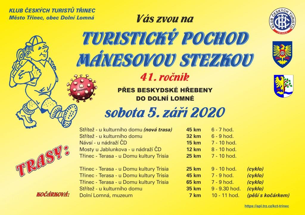 Mánesova stezka 2020 plakát